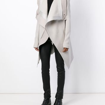 Rick Owens Draped Collar Coat - Eraldo - Farfetch.com