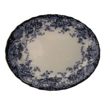 "Keeling and Co 18"" Flow Blue Chatsworth  Platter"