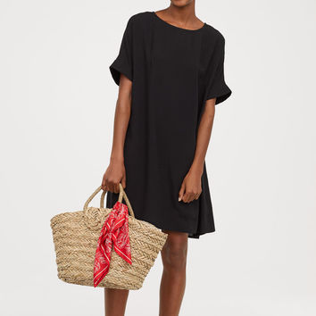 Short-sleeved Dress - Black - Ladies | H&M US