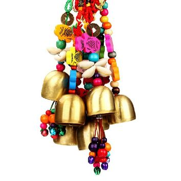 1PCS National Copper Bell Mobile Wind Chime Home Yard Garden Outdoor Living Decor(randomly send)