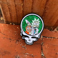 Rick and Morty Stealie Pin