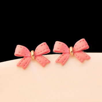 Fashion Bow Leather Earrings - LilyFair Jewelry