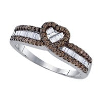 Diamond Fashion Ring in Sterling Silver 0.52 ctw