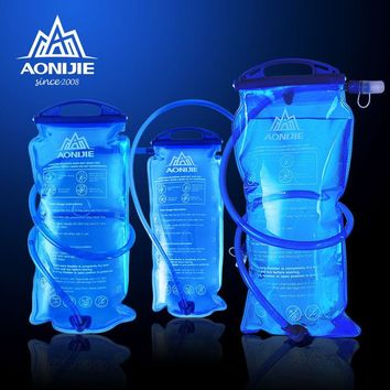 Outdoor 1L /1.5L / 2L / 3L Capacity Portable Camping Hiking TPU Water Bag Hydration Riding Running EDC Folding Water Bags