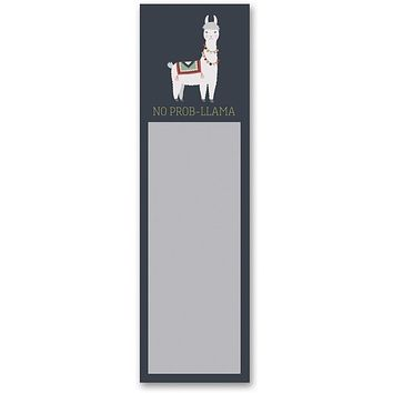 No Prob-Llama Magnetic Sticky Notepad in Navy Blue