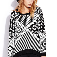 Geo Chic Oversized Sweater