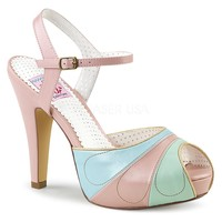 Pin Up Couture Bettie-27 Pink Ankle Strap Pumps