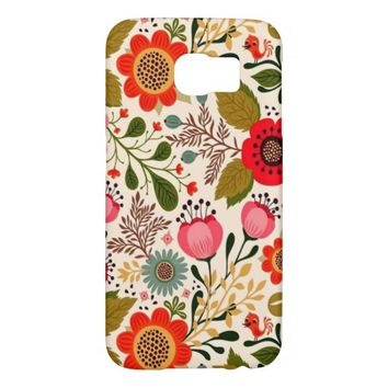 Antique Stylish Vintage Spring Floral Pattern Samsung Galaxy S6 Cases