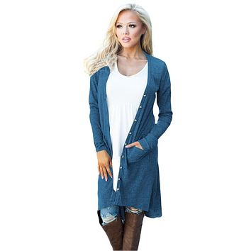 RANDI BUTTON DOWN DUSTER CARDIGAN