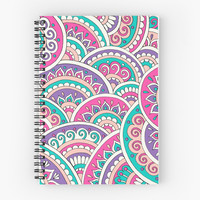 'Boho Sunset' Spiral Notebook by Sarah Oelerich