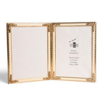 Bronze Beige Enameled Double Frame