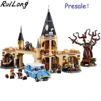 New 843pcs Hogwarts Whomping Willow Compatible Legoing Harry Potter 75953 Building Blocks Bricks Toys Kids Gifts Christmas