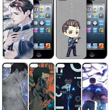 Detroit:Become Human Connor Cellphone Phone Case Cover Mobile Shell for iPhone Samsung 56789S X Plus Note Cosplay