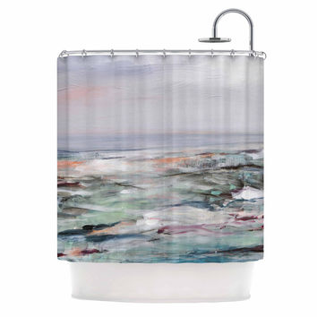 "Iris Lehnhardt ""Coastal Scenery"" Pastel Abstract Shower Curtain"