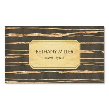 Classy Faux Gold Foil Professional Business Card