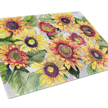 Sunflowers Glass Cutting Board Large