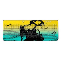 Music and dance pop art keyboard