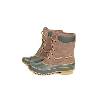 5 | mint GH BASS duck boots / leather lace up / sorel / rubber / waterproof / winter / ll bean / fleece flannel lined / rain / women size 5