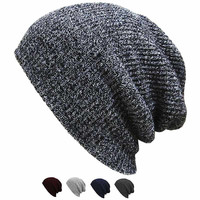 Unisex Chic Baggy Beanie Oversize Slouchy Knit Hat Men Women Skull Cap New 2160dd7bb217