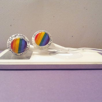 Rainbows or Pride Sparkle Earbuds