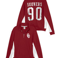 University Of Oklahoma Boyfriend Half-Zip - PINK - Victoria's Secret