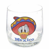 disney parks epcot donald duck with sombrero mexico juice glass new