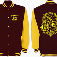 Hufflepuff Quidditch Varsity Jacket Harry Potter Fan Gift Tumblr Pinterest Unisex