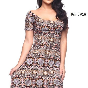 * Fit & Flare Dress In L Brown
