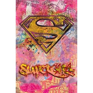 SUPERGIRL POSTER - GRAFFITI LOGO - NEW SUPERMAN 24X36