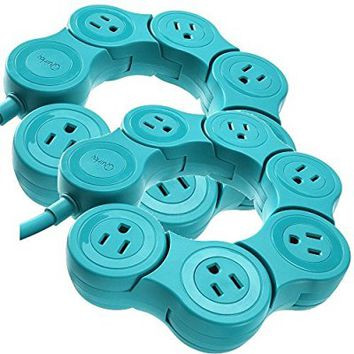 2 Quirky Pivot Power Strips PPVPP-TL01 - Teal Color: Teal, Model: , Tools & Outdoor Store
