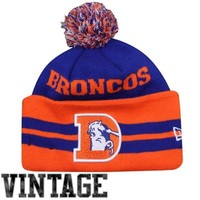 New Era Denver Broncos Wide Point Leagacy Cuffed Knit Hat - Royal Blue/Orange