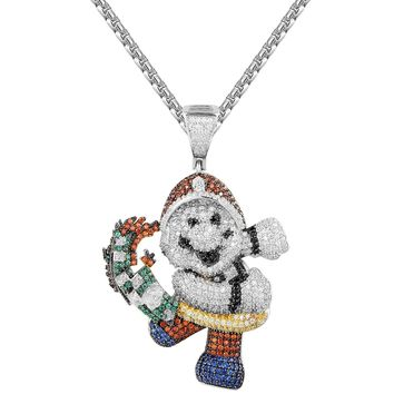 Multi Color Mario Snatching Money Character Pendant Chain