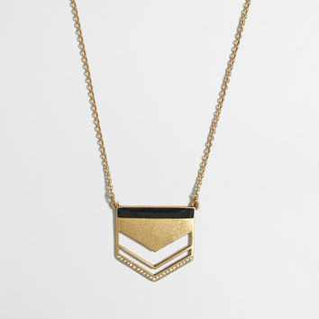 JCrew Golden arrow pendant