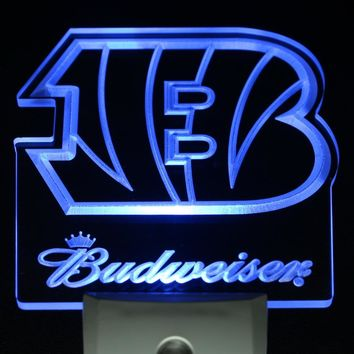 ws0146 Cincinnati Bengals Budweiser Day/ Night Sensor Led Night Light Sign