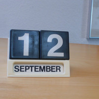 Perpetual desk calendar designed by Ole Jorgensen by SwingModern