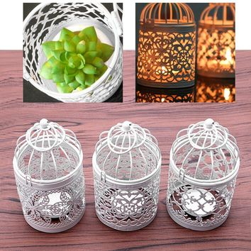 6 Style Hollow Holder Candlestick Tealight Hanging Lantern Bird Cage Vintage Wrought SUR