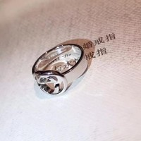 women men Gucci Logo Noble High 2018 New Serpenti ring AAAA diamond drill hollowed out 18 K gold Lovers ring