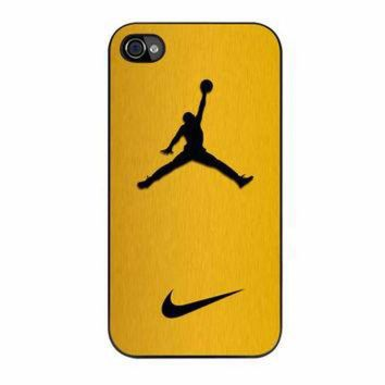 DCKL9 Nike Air Jordan Golden Gold iPhone 4s Case