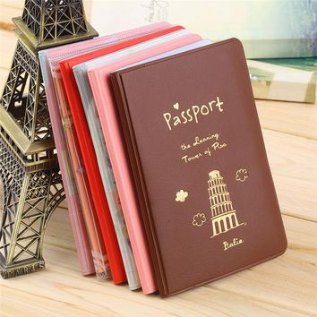 6 Colors Travel Passport Holder Document Card, Passport Case, Passport Cover Passport Holder Protect Cover Free Shipping Hot