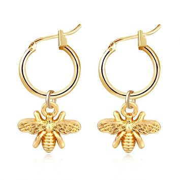 1pair Fashion Star Animals Pendant Hoop Earrings For Women Cute Gold Silver Color Moon Cross Circle Earrings Trendy Jewelry
