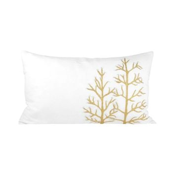 Winter Gillter 20x12 Pillow Crema,Gold