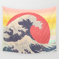 Hokusai revisited Wall Tapestry by anipani