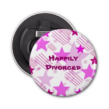 Happily Divorced Button Bottle Opener