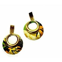 Boho African Print Earrings