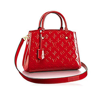Authentic Louis Vuitton Montaigne BB Monogram Vernis Leather Handbag Article:M50170 Made in France
