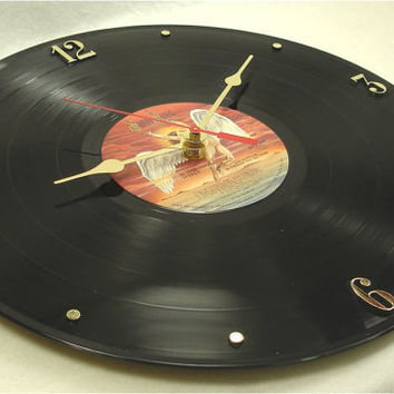 LED ZEPPELIN In Through The Out Door - Recycled Record Clock