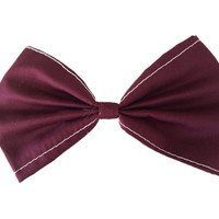 Maroon Bow (white stitching)
