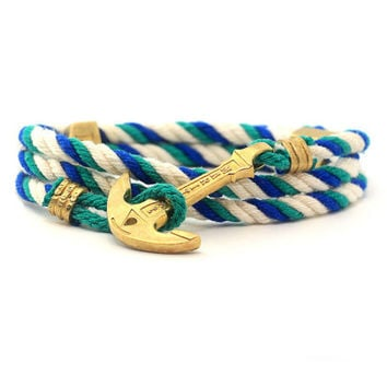 Anchor Bracelet / Mens Bracelet / MARITIME Collection / Women Wrap Bracelet / Sea Bracelet / Rope Bracelet / Wooden Box / Adjustable Size
