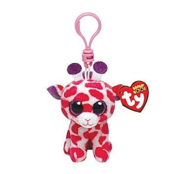 Claire's Accessories Ty Beanie Boos Twigs the Giraffe Plush Clip On - 3 1/2""
