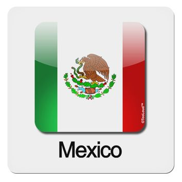 "Mexican Flag App Icon - Text 4x4"" Square Sticker by TooLoud"